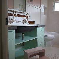 Pink Cabinets Traditional Bathroom Benjamin Moore