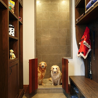 Parkyn Design - laundry/mud rooms - doggy room, dog friendly mudroom, dog shower, doggy shower, doggy mudroom, dog shower, tiled mudroom, mudroom storage, mudroom with dog shower, tiled doggy shower, built-in storage, built-in cabinets, mudroom built-ins, built-in bench, storage bench, mudroom bench, cubbies, mudroom cubbies, tiled floors, pet lovers mudroom, dog lovers mudroom, mud room dog shower, mudroom dog shower,
