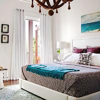 BHG - bedrooms - turquoise accents, turquoise blue accents, bedroom with turquoise accents, bedroom with turquoise blue accents, turquoise art, turquoise blue art, turquoise canvas art, turquoise blue canvas art, art over bed, art over headboard, art above bed, art above headboard, grape pillows, purple pillows, splatter paint pillow, geometric sheets, white and brown sheets, white and brown geometric sheets, turquoise throw, turquoise throw blanket, turquoise blue throw, turquoise blue throw blanket, shag rug, rug under bed, sea green rug, sea green shag rug, grommet drapes, grommet curtains, grommet window panels, white grommet curtains, white grommet window panels, bedroom french doors, french doors bedroom, wood chandelier, manning chandelier, arteriors chandeliers,