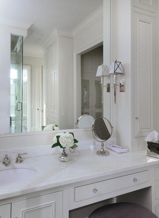 Built In Make Up Vanity - Traditional - bathroom - All Alabama