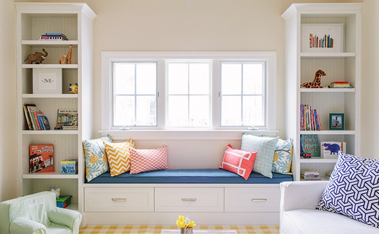Built In Bookshelves Cottage Girls Room Lauren