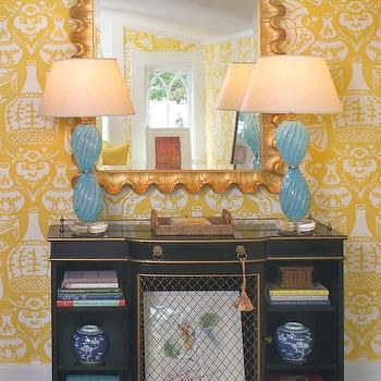 The Vase Wallpaper, Eclectic, den/library/office, Jennifer Dengel