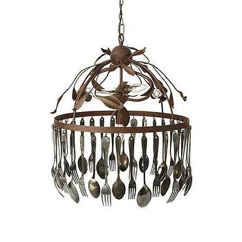 Spoon And Fork Chandelier, Arhaus Furniture