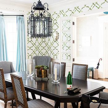 Bamboo Trellis Wallpaper, Contemporary, dining room, One Kings Lane