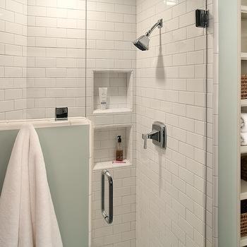 subway tiled shower enclosure - design, decor, photos