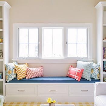 Built In Bookshelves, Cottage, girl's room, Lauren Nelson Design