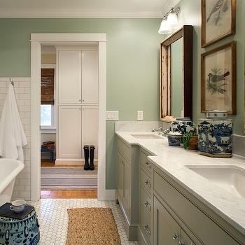 Sage Green Bathroom Contemporary Bathroom Coddington Design