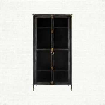 Storage Furniture - Wyatt Iron Cabinet | Arhaus Furniture - iron cabinet, mid-century french style cabinet, iron cabinet with brass finials,