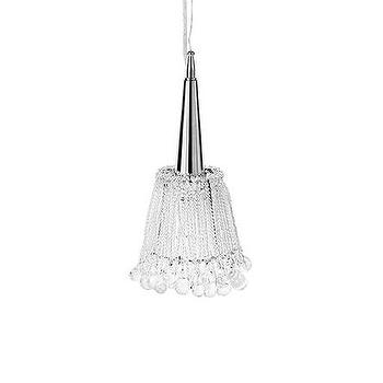 Lighting - Tamar Chandelier | Arhaus Furniture - glass bead chandelier, stranded glass bead chandelier, brushed metal and glass bead chandelier,