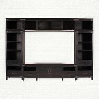 Storage Furniture - Black Large Entertainment Center - Bentley | Arhaus Furniture - media center, campaign style media center, campaign furniture, campaign style furniture,