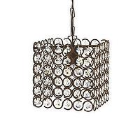 Lighting - Unique Chandelier - Peyton | Arhaus Furniture - wire and crystal droplet chandelier, square chandelier with crystal droplets, iron and crystal droplet chandelier,