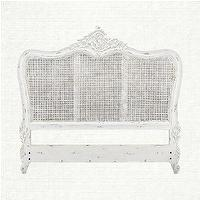 Beds/Headboards - Vivaldi Queen Headboard | Arhaus Furniture - ornate cane headboard, white cane headboard, distressed white cane headboard,