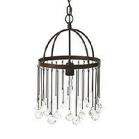 Lighting - Sphere Glass Chandelier | Arhaus Furniture - iron and glass droplet chandelier, glass droplet chandelier, iron domed glass droplet chandelier,