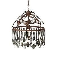 Lighting - Spoon And Fork Chandelier | Arhaus Furniture - spoon and fork chandelier, eclectic chandelier, cast iron chandelier with spoons and forks,