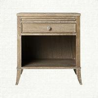 Storage Furniture - Bed Room Nightstand - Avignon | Arhaus Furniture - drifted wood nightstand, single drawer nightstand, single drawer nightstand with pull-out tray,