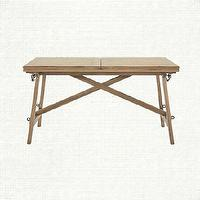 Tables - Pastry Dining Table | Arhaus Furniture - x-base dining table, x-based dining table, x-based extendable dining table,