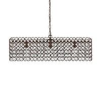 Lighting - Darcel Chandelier | Arhaus Furniture - wire and crystal chandelier, wire and crystal droplet chandelier, rectangular wire and crystal chandelier,