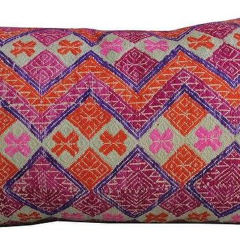 Pillows - Allison Pillow I Amber Interiors - vintage pillow, vintage pink pillow, vintage chinese wedding blanket pillow,