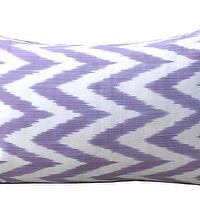Pillows - Lilac Chevron Pom Pom | Amber Interiors - lilac chevron pillow, lilac chevron pom pom pillow, lilac ikat silk pillow,