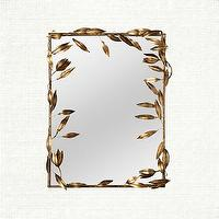 Mirrors - Leaf Mirror | Arhaus Furniture - leaf mirror, leaf and vine mirror, leaf framed mirror,