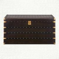 Storage Furniture - Colburn Trunk Coffee Table | Arhaus Furniture - steamer trunk, steamer trunk coffee table, trunk coffee table,