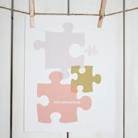 Art/Wall Decor - COMPLETE I Stephanie Sterjovski Photography & Design - you found your missing piece art, missing piece art, jigsaw missing piece art,