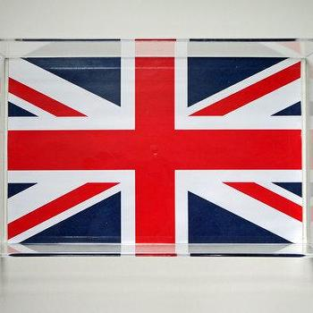 Union Jack Lucite Tray with Handles, Parker & Rain