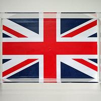 Decor/Accessories - Union Jack Lucite Tray with Handles | Parker & Rain - union jack lucite tray, union jack flag lucite tray, lucite tray,