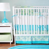 nurseries - #nursery, #babybedding, #aqua, #green,  Monterey Bay Baby Bedding