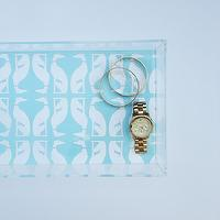 Decor/Accessories - Aqua Greyhounds Lucite Tray with Handles | Parker & Rain - aqua greyhounds lucite tray, lucite tray, greyhounds lucite tray,