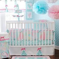 New Arrivals Inc - nurseries - #nursery #pink #aqua #baby, aqua and pink crib bedding, aqua and pink nursery bedding, pink and aqua nursery,