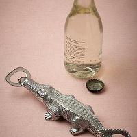 Decor/Accessories - Alligator Bottle Opener I BHLDN - alligator bottle opener, gator bottle opener, silver alligator bottle opener,
