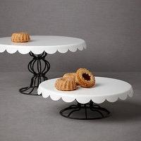Decor/Accessories - Patisserie Cake Stands I BHLDN - black and white cake stand, black and white cake pedestal, parisian cake stand,
