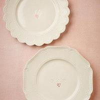 Decor/Accessories - I Do, Me Too Dinner Plates (2) I BHLDN - i do me too dinner plates, wedding dinner plates, marriage dinner plates,