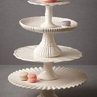 Decor/Accessories - Royal Icing Cake Stands I BHLDN - cake stands, cake pedestal, tier cake stand,