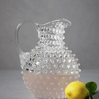 Decor/Accessories - Tackety Pitcher, Round I BHLDN - hobnail glass pitcher, hobnail pitcher, hob nail glass pitcher,