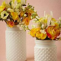 Decor/Accessories - Milk Glass Hobnail Jars I BHLDN - milk glass jars, milk glass vase, milk glass hobnail jars, milk glass hobnail vase,