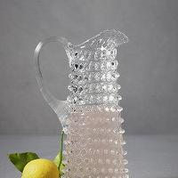 Decor/Accessories - Tackety Pitcher, Narrow I BHLDN - hobnail pitcher, hobnail glass pitcher, hob nail glass pitcher,