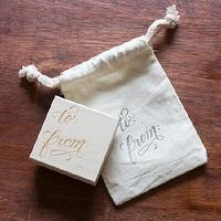 Decor/Accessories - Tag Stamp I molly jacques lettering + illustration - to and from stamp, to from letter stamp, to and from gift stamp,