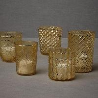 Decor/Accessories - Bric-A-Brac Votives (5) I BHLDN - mercury glass votives, mercury glass candle votives, mismatched mercury glass votives,