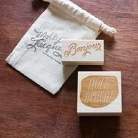 Decor/Accessories - Greetings Stamp Set I molly jacques lettering + illustration - hola amigo stamp, bonjour stamp, greetings stamp set,