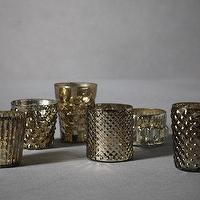 Decor/Accessories - Moravia Votives (6) I BHLDN - mismatched votives, antiqued silver votives, silver glass votives,