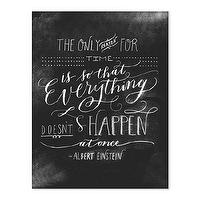 Decor/Accessories - Einstein Print I molly jacques lettering + illustration - einstein quote, black and white einstein quote, black and white albert einstein quote,