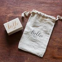 Decor/Accessories - Hello Stamp I molly jacques lettering + illustration - hello stamp, hello letter stamp, hello ink stamp,