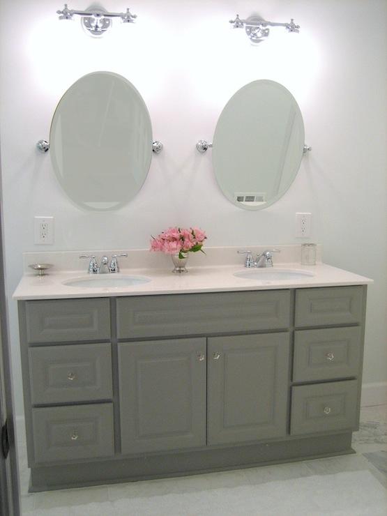 Martha Stewart Double Vanity Transitional Bathroom