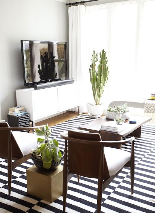 ikea stockholm rug eclectic living room benjamin moore half moon crest emily henderson. Black Bedroom Furniture Sets. Home Design Ideas