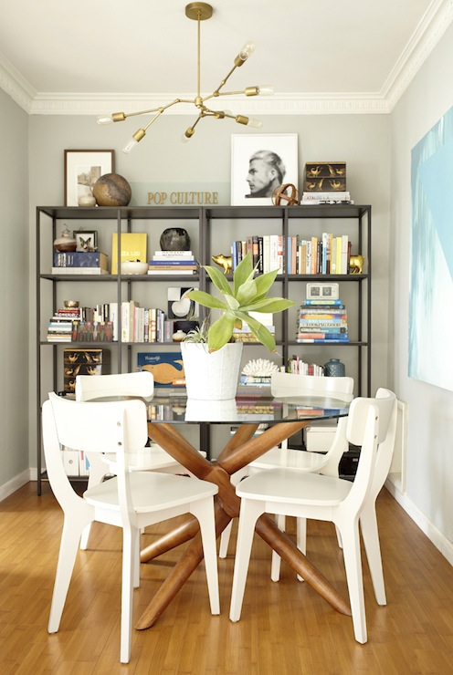 ikea vittsjo shelving unit eclectic dining room
