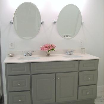 Martha Stewart Double Vanity, Transitional, bathroom, Martha Stewart Cement Gray, Ten June