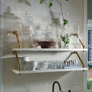 Marble Shelves Kitchen, Traditional, kitchen, Design Galleria