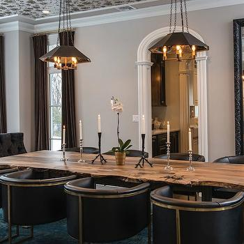 Black Tufted Dining Chairs, Contemporary, dining room, Vanessa Deleon